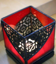 Mosaic 3x3 Red Black - close