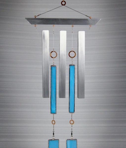 InDustrial Zen Wind Chime - Cyan (front)