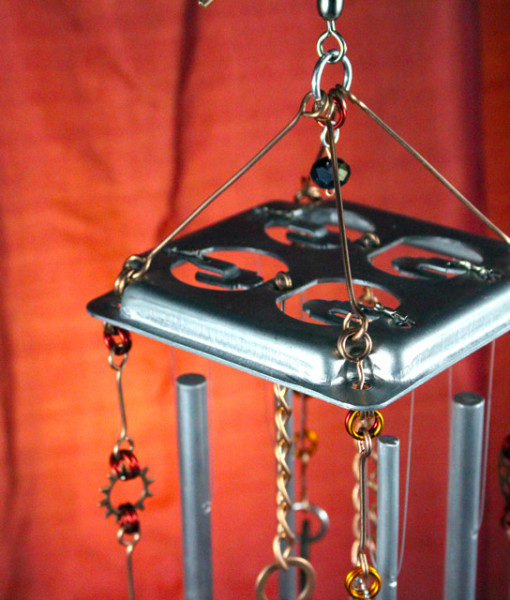 Steampunk Symphony - top (metal electrical box cover)