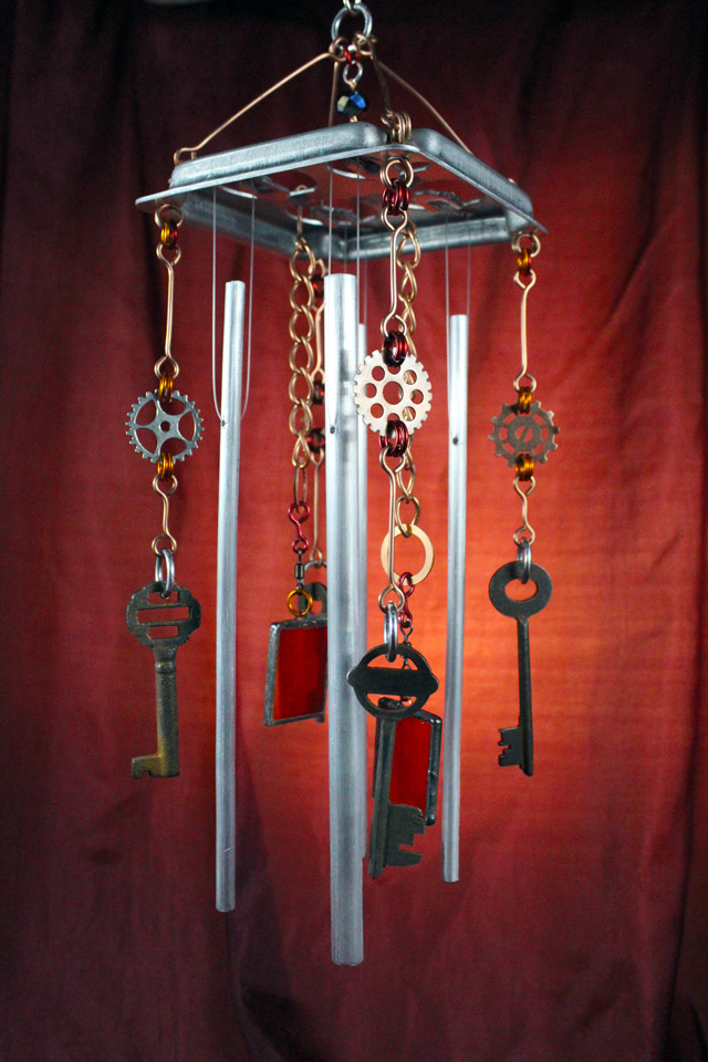 Wind Chime Steampunk Symphony Kris Art Glass