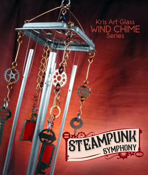 Wind Chime Steampunk Symphony Kris Art Glass