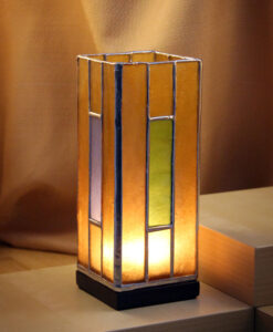 A candle holder in the specific dimensions of 3x7.