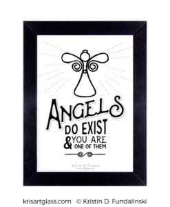 Fundalinski - Angel Exist Print with frame