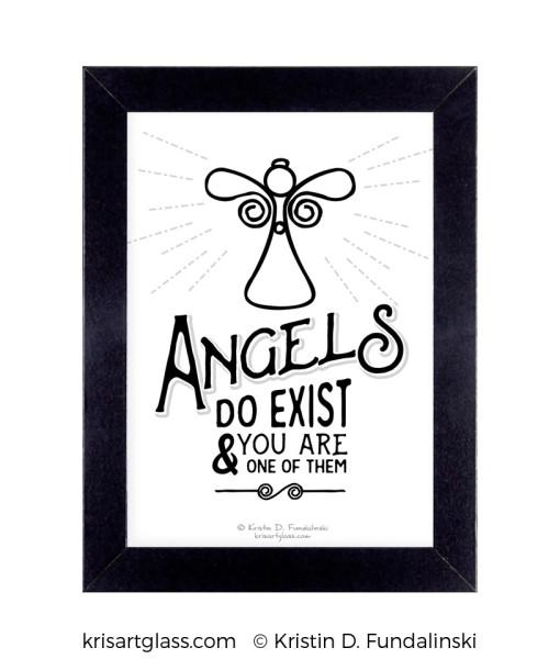 Fundalinski - Angel Exist Print with frame