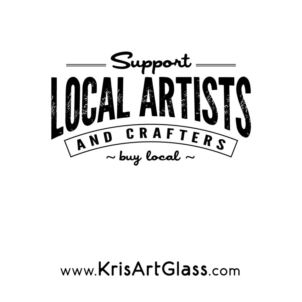 Support local artists tote bag kris art glass for Local craft fairs near me