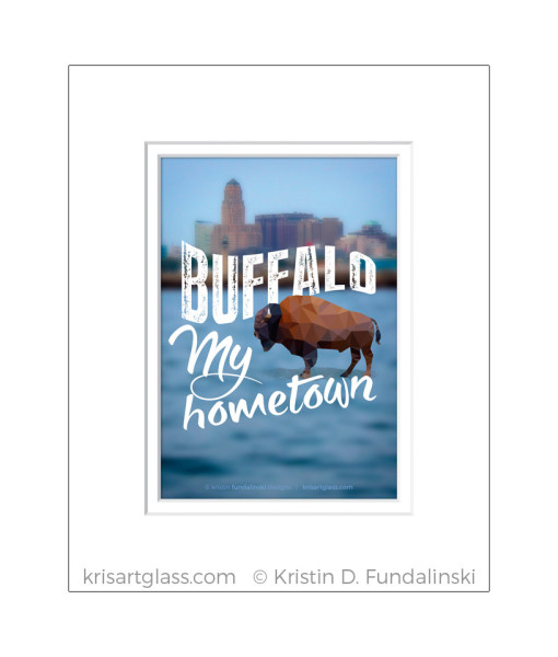 Fundalinski - BuffaloMy hometown - 5x7 with matt