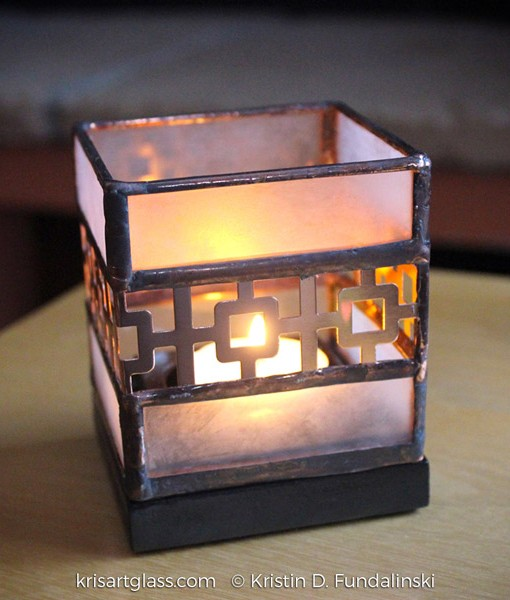 Kris Art Glass - Squares Candle Holder