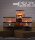 Fundalinski Wine Bottle Candle Holders