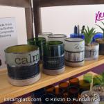 Kris Art Glass - Wine Bottle Candle Holder Display