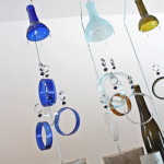 Kris Art Glass - Wine Chimes Display