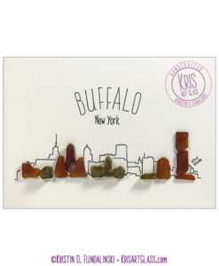 KFundalinski Pebble art Buffalo Cityscape